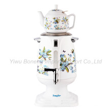 Sf-3316Turkish Samovar, Electric Kettle, Iranian, Russian Samovar with Ceramic Teapot