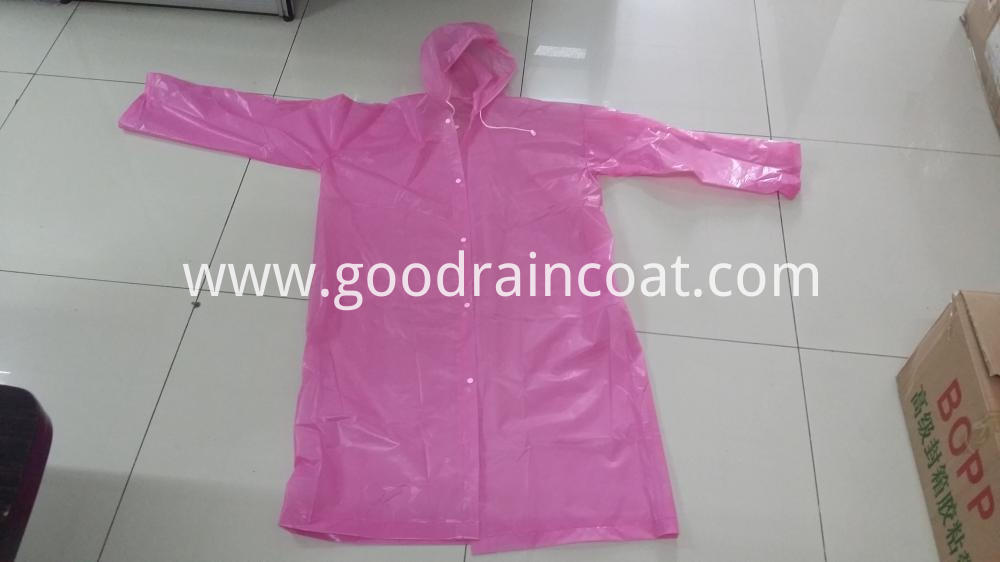 PEVA raincoats