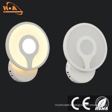 Lampe de mur moderne de l'usine 8W LED de style simple d'éclairage de prix usine