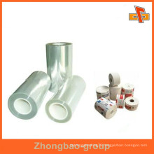 manufacturere in China transparent thermal bopp film for napkin,cigrette,cosmetic make-up box packaging
