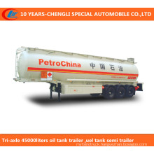 Tri-Axle 45000liters Oil Tank Trailer, Uel Tank Semi Trailer