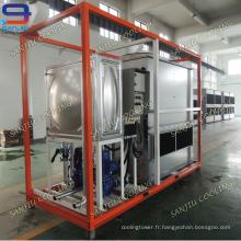 Circuit de fermeture à contre-courant Unité de refroidissement liquide rectangulaire