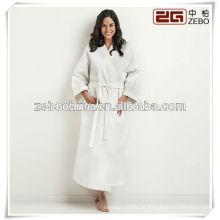 Moda luxuosa xale colar de algodão mulher colorida roupão de banho
