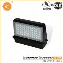 UL Dlc Listed IP65 extérieure 150W LED Wall Pack lampe