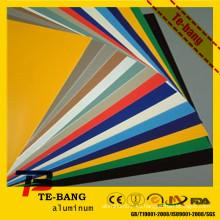 De buena calidad de color pintado de aluminio de techos hoja de precios de color pintado de hoja de aluminio