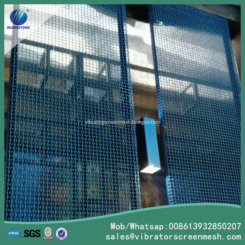 Painting Crimped Woven Mesh