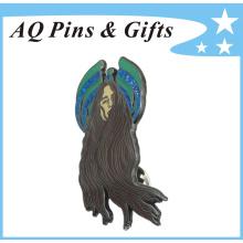 O emblema macio do Pin do Cloisonne do metal da alta qualidade com Glitter (badge-149)