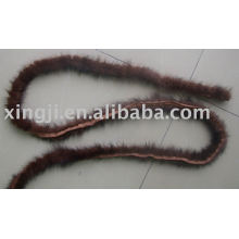 Mink Fur piping for clothing trimming