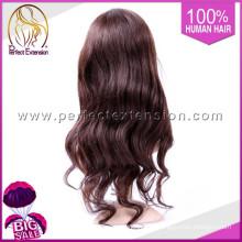 Peruca brasileira de vista natural do cabelo humano, perucas cruas da parte de Remi U do Virgin de 100% para mulheres negras