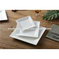 Plato cuadrado cuadrado y rectangular competitivo barato de la porcelana