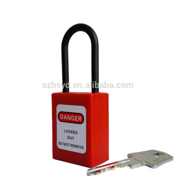 Impact Resistant,UV,corrosion,heat ABS plastic professional keyed to master&alike long shackle safety padlock