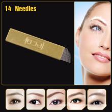 Agujas de maquillaje permanente de ceja PCD de cobre