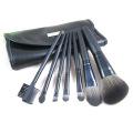 7PCS Travel Cosmetic Kit Ensemble de brosse à maquillage avec plaque métallique en pochettes