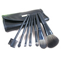 7PCS Travel Cosmetic Kit Makeup Brush Set with Metal Plate in Pouch