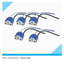 Dimart 5 STÜCKE Auto 3-Wire Kabel 3 Pin H4 Geschirr Relaisbuchse Blau für Kabelbaum