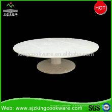 China Design tradicional diário usado bolo branco Stand, pedra fina bolo de frutas prato