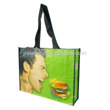 Fashion design recycled folding non woven shopping bags custom