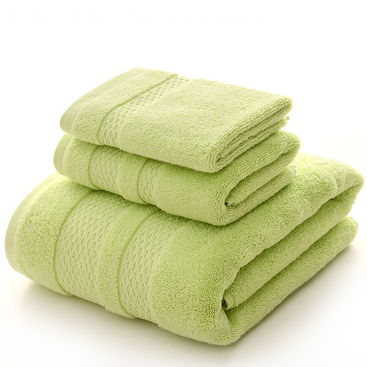 Bath Towel Set in Lime