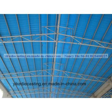 Folha verde da telha de telhado do baixo custo UPVC para o alojamento de Offordable