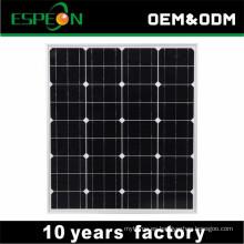 Panel solar mono de 18V 80W para el mercado de Oriente Medio, Sudeste, África