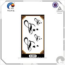 Etiqueta provisória do tatuagem do tamanho pequeno popular mundial da cor única para a decoração diária