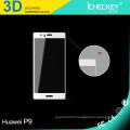 Protecteur d'écran en verre trempé à couverture totale incurvée 3D de 0,2 mm pour HuaWei P9 noir / or / blanc / transparent