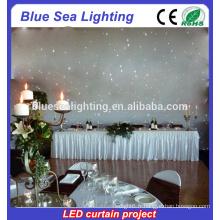 Équipement de scène Mariage Feuilles de décoration LED Curtain
