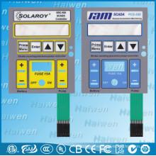 Interruptor de membrana de botones en relieve con sensación táctil