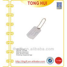 Gravado logo metal hang dog tag colar de pingentes