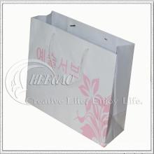 Saco de compras de papel com punho de seda (KG-PB047)
