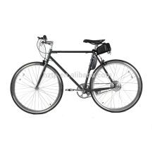 Bicicleta eléctrica del camino del engranaje fijo de la sola velocidad del diseño simple de los bordes sólidos 700C
