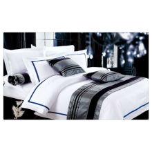 200-400T Algodão egípcio puro hotel branco roupa de cama