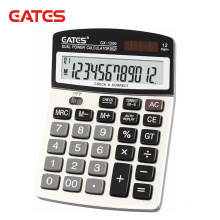 12 digits dual power check&correct big display counter electronic calculator