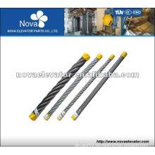 8 * 25Fi + Fc Cuerda de acero del elevador, cuerda del elevador para elevatots del pasajero