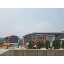 Projeto de sistema de telhado de aço curvado luz do fardo de Q345b