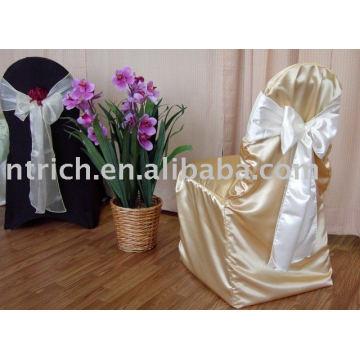 Satin fabric chair cover,hotel/banquet chair cover,Organza sash
