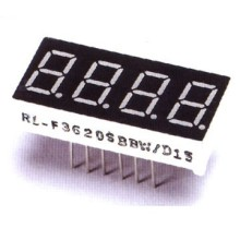 LED 0.4inch Quadruple Digit 7 segmen paparan