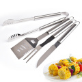 Ensemble d'outils de barbecue en plein air cadeau 4PCs papa