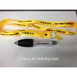 Big plastic promotional lanyard pen