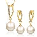 Collar y pendiente de la perla de la forma del collar de la joyería respetuosa del medio ambiente