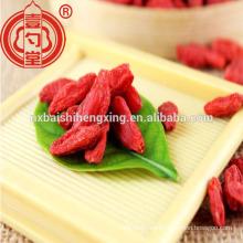 Fabricante de productos alimenticios seco goji baya Bayas goji