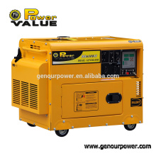 Power Value 5.5kw three phase diesel generator set dg7000se for sale