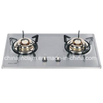 2 brûleurs 730 Longueur acier inoxydable intégré Hob