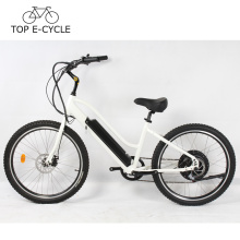 Novo design 500 W roda traseira do motor bicicleta elétrica praia cruiser bicicleta elétrica