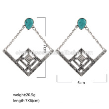 High Quality Latest Fashion Vintage Turquoise Diamond Stud Earrings For Woman SSEH012