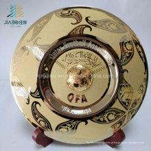 Placas ou placa feita sob encomenda de cobre da lembrança do metal do ouro de prata antigo relativo à promoção do presente