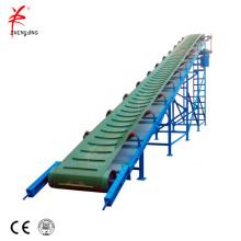 Транспортный резиновый роликовый наклонный ленточный конвейер