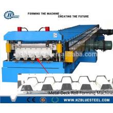 PLC Cisterna hidráulica Aço de aço galvanizado automático Deck Deck Decking Roll formando máquina com estampagem