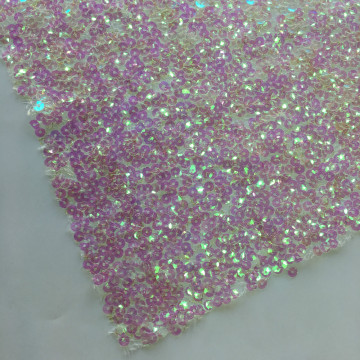 Forma especial Rainbow Sequins Embroidery Fabric