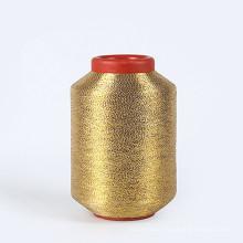 metallic thread yarn metal yarn gold embroidery metallic yarn for weaving